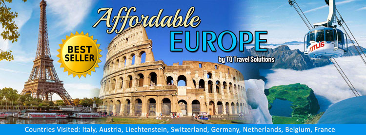 Affordable Europe Filipino group tour package